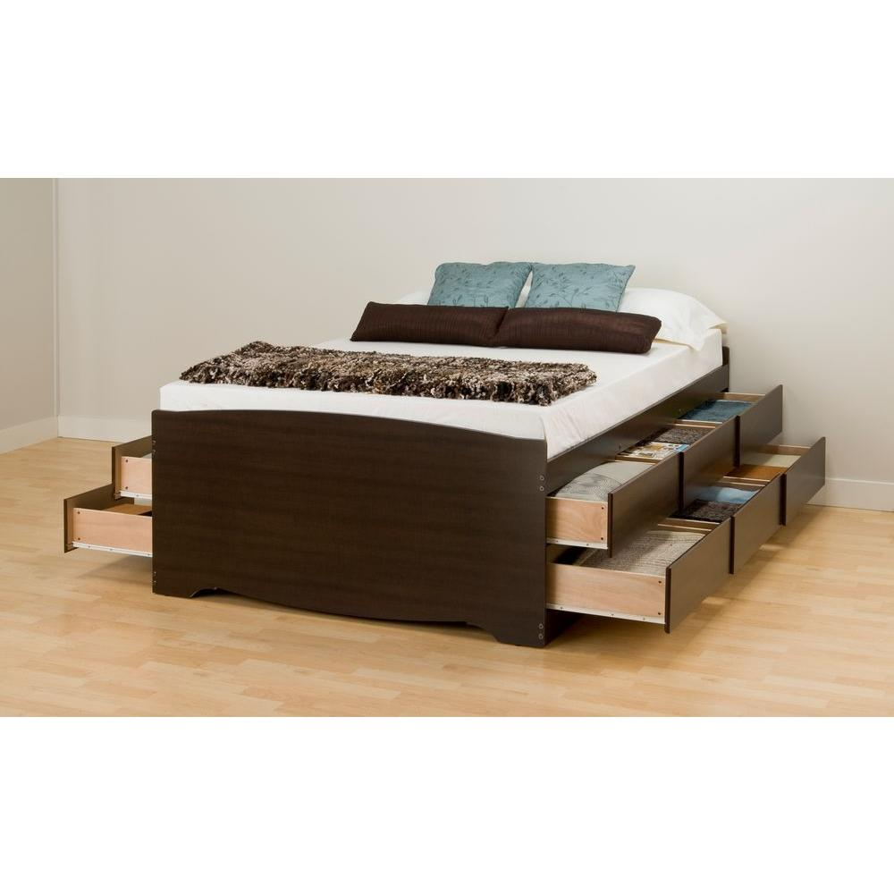 storage beds with drawers prepac queen wood storage bed VOCSNKE