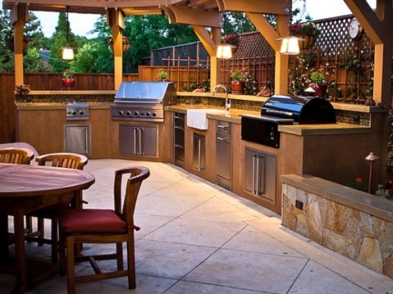 stunning cool outdoor kitchen designs ixmvoco YTSHRLH