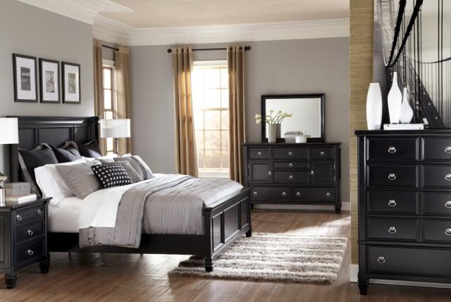 stylish black bedroom furniture sets king gray bedrooms black furniture LYFIMIT