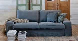 stylish sofa slipcovers bemzu0027s perfectly slouchy slipcover for ikeau0027s kivik sofa, $299 LADPZIV