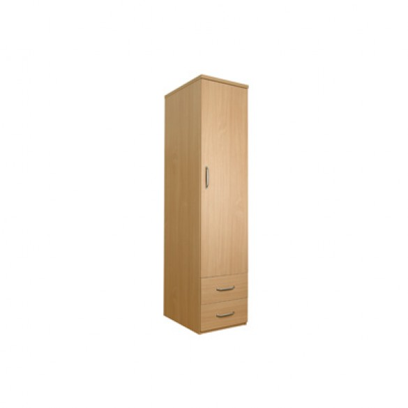 sunflower single wardrobe with drawers - no lock - beech DKPZCPH