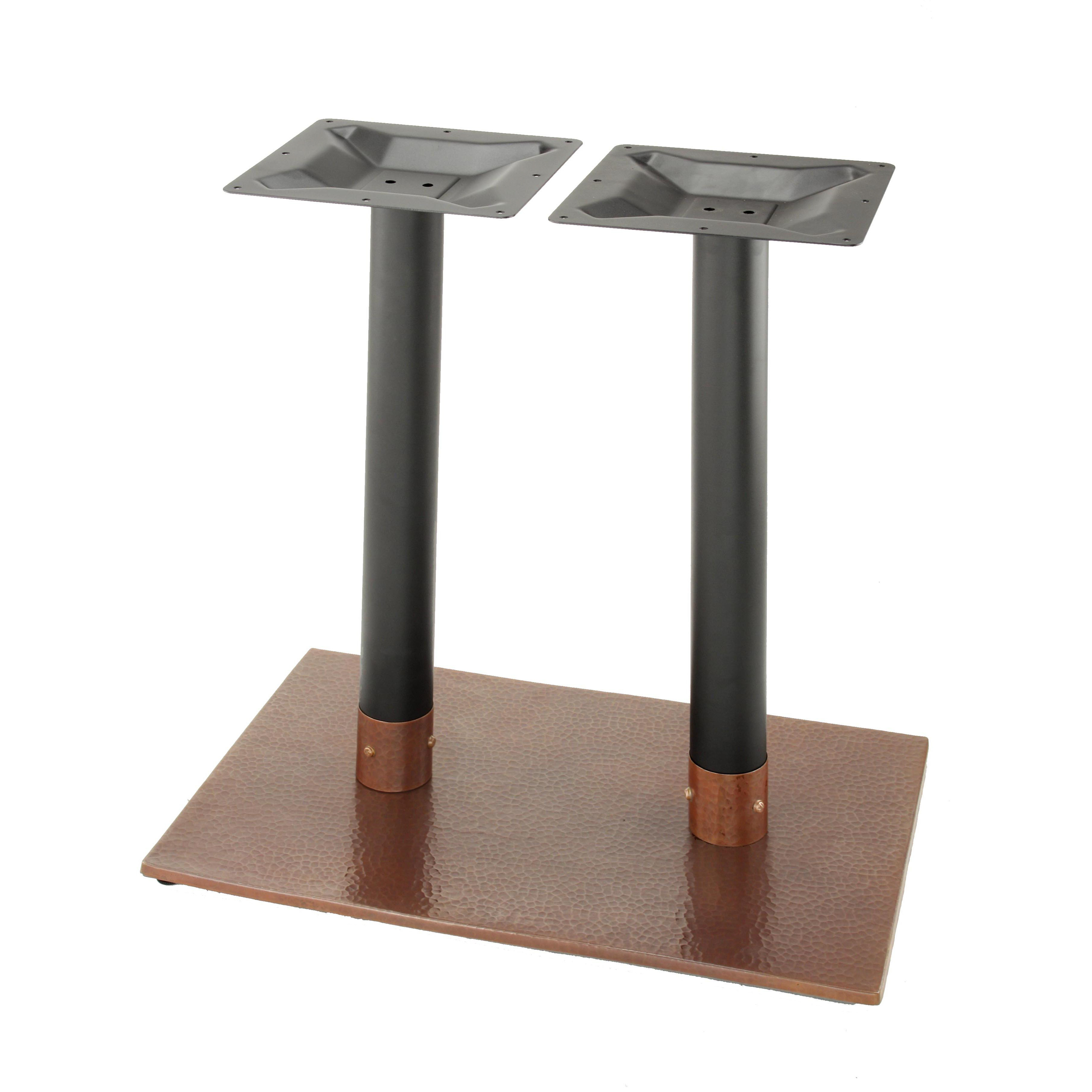 table bases penny-1828 - hammered copper table base - coffee table height (18 MZSWGEC