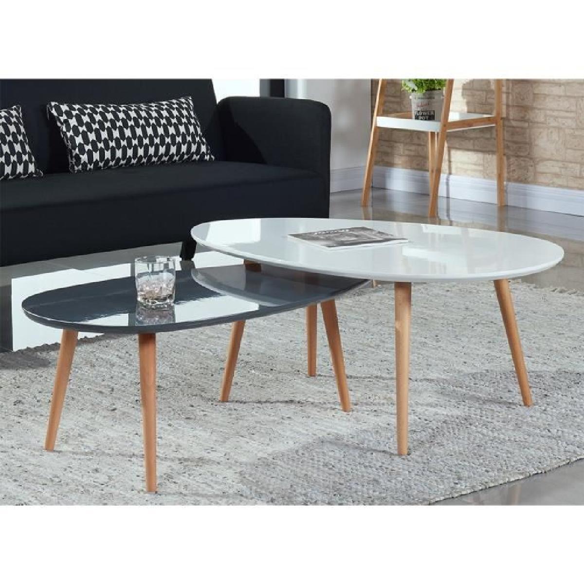 table salon modern table de salon table basse stone lot de 2 tables YPRDLPZ