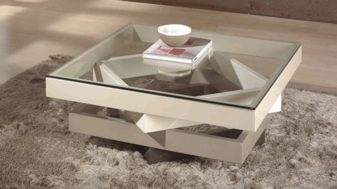 table salon table basse moderne en verre - hana ZIAVYAW