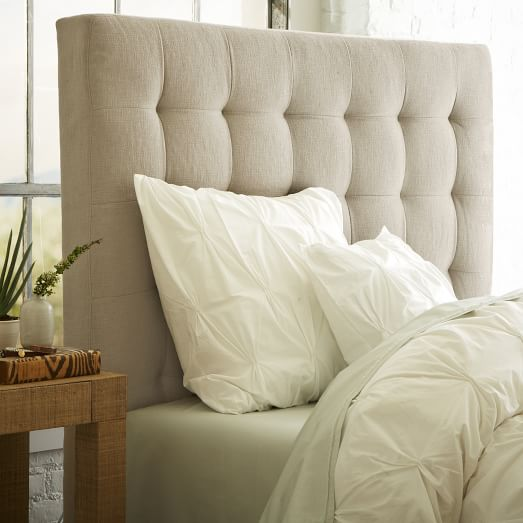 tall grid-tufted headboard ODCDPHI