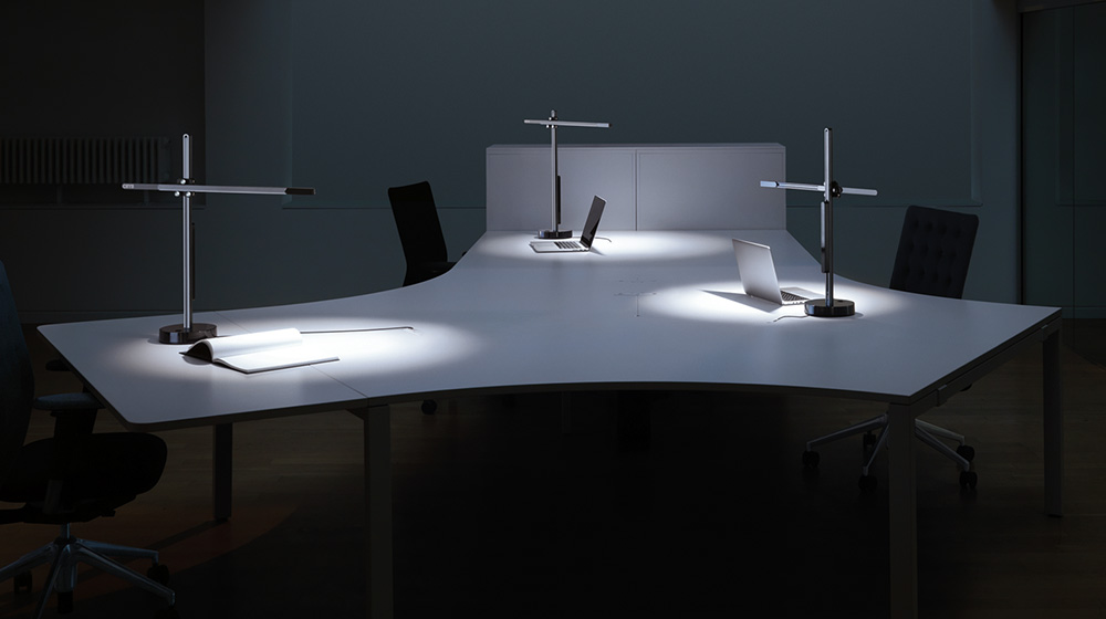 task lighting with heat pipe technology to cool leds. EQOTWSC