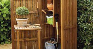 teak garden storage AKKIYNU