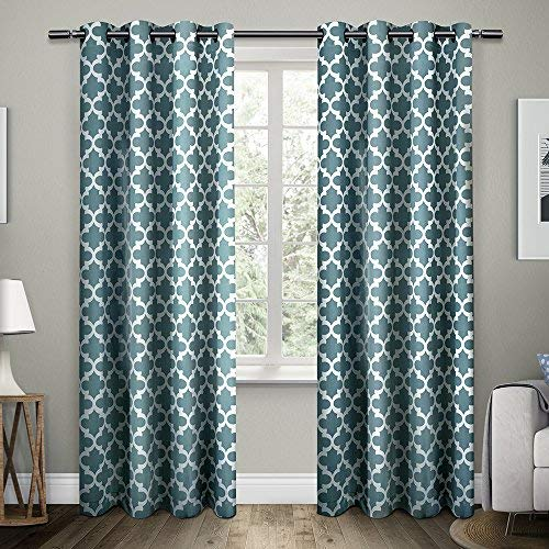 teal curtains exclusive home curtains neptune cotton grommet top window curtain panel YLQJXFU