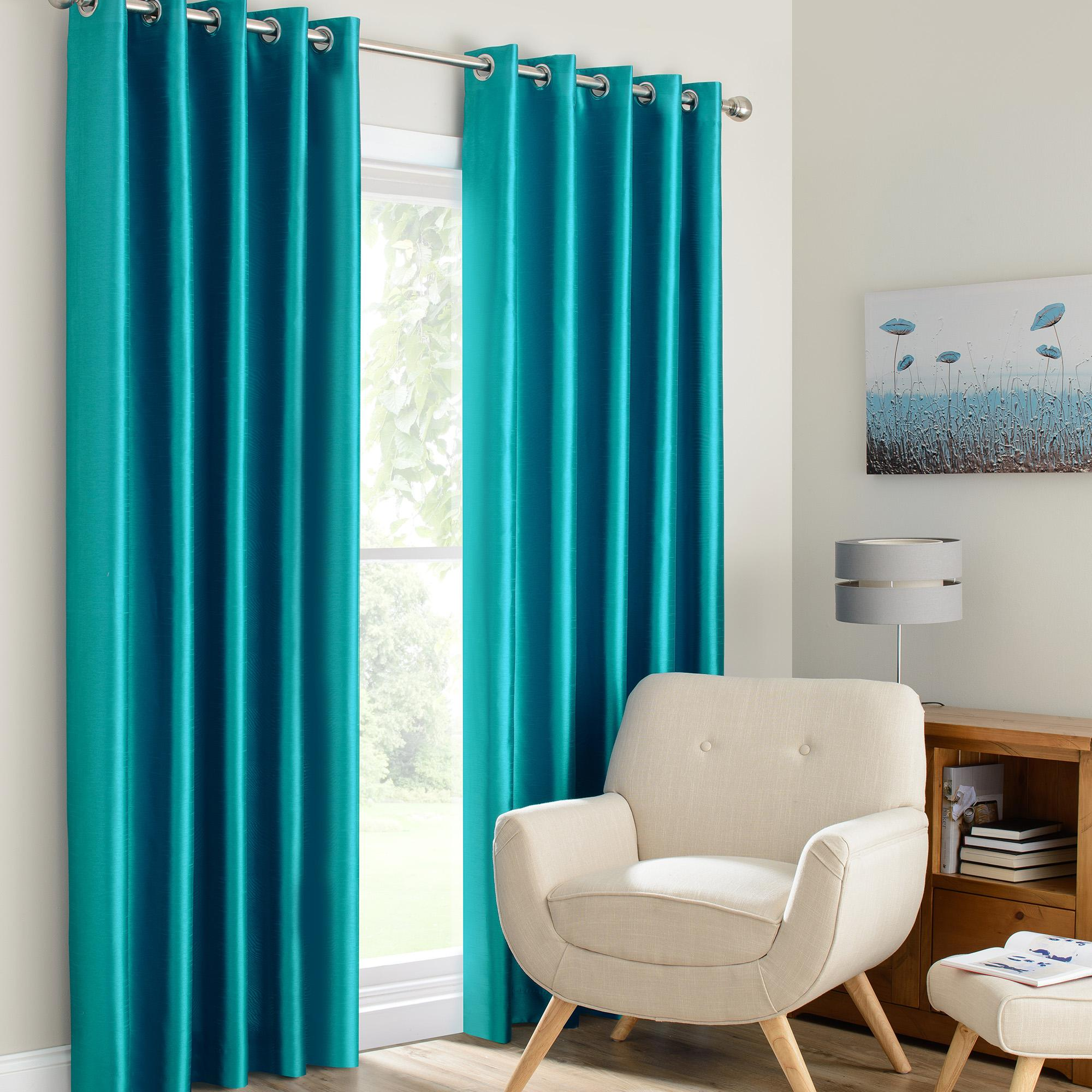 teal curtains montana teal lined eyelet curtains IIVKOHC