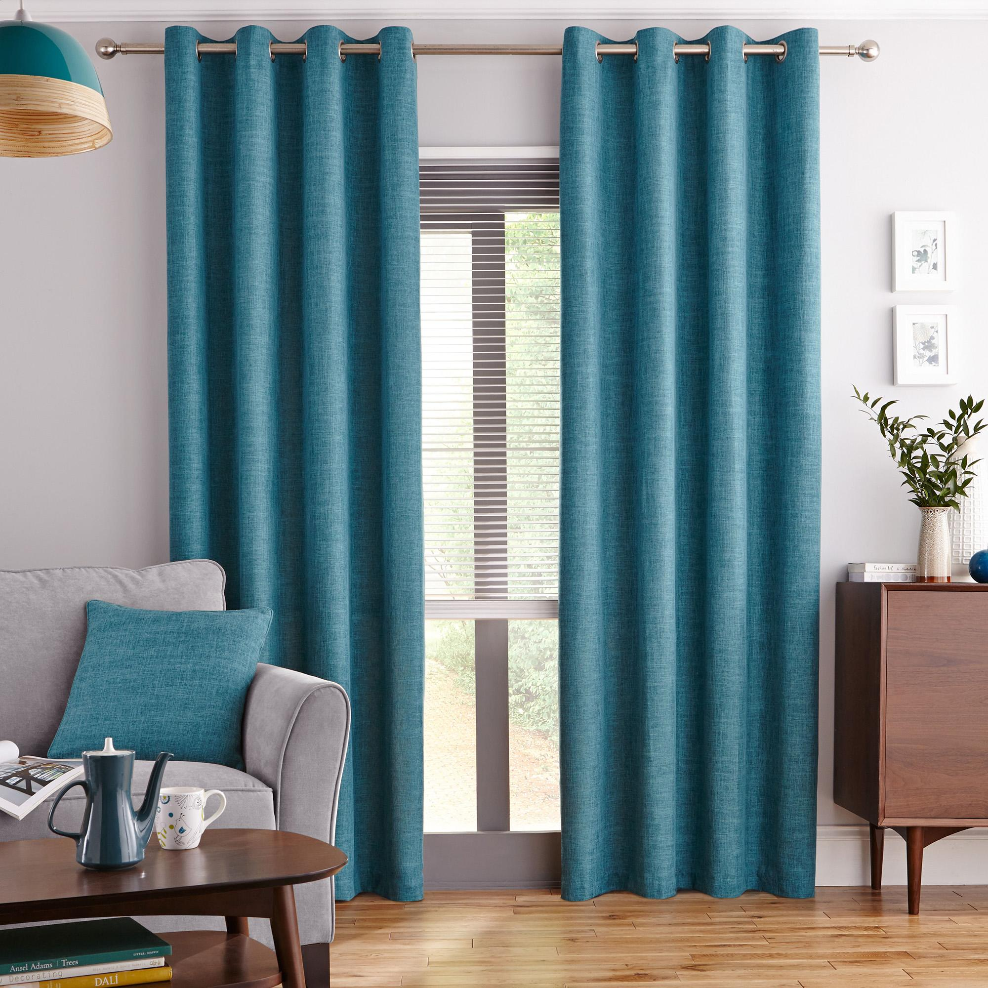 Teal Curtains for the House