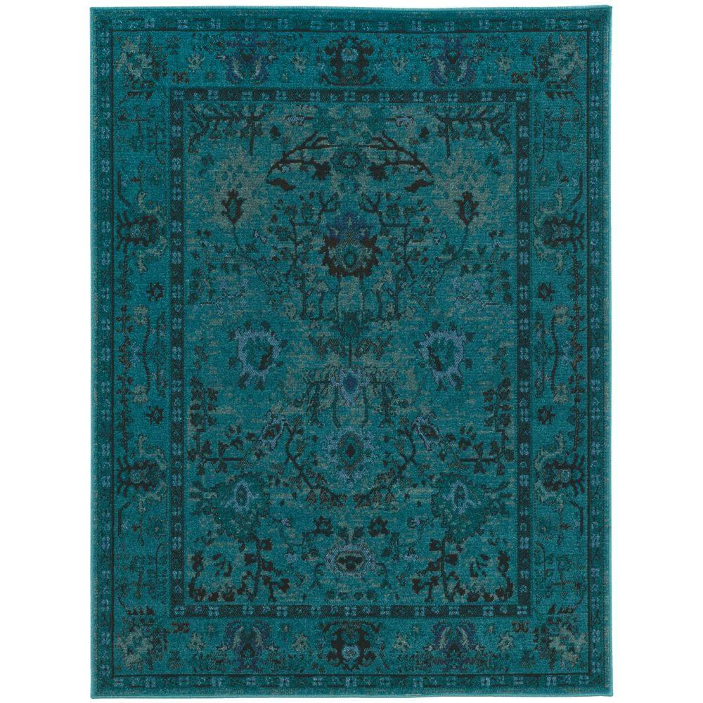 teal rugs home decorators collection overdye teal 10 ft. x 12 ft. area LTTFWKM