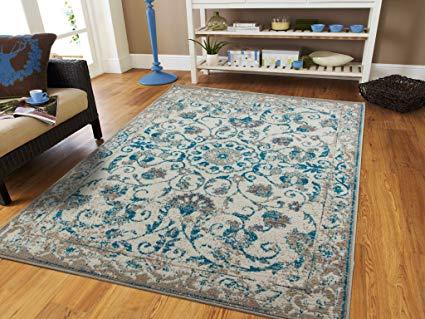 teal rugs traditional vintage area rug distressed rug teal blue gray beige 8x11 PHNLXKG