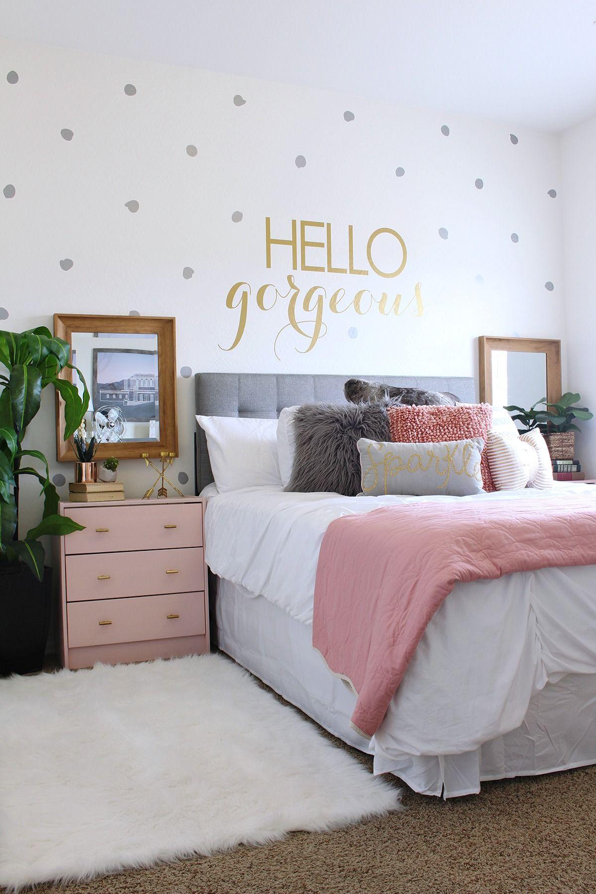 teen girl bedroom teen room makeover ideas - www.classyclutter.net | love the combo of UOKMCCE