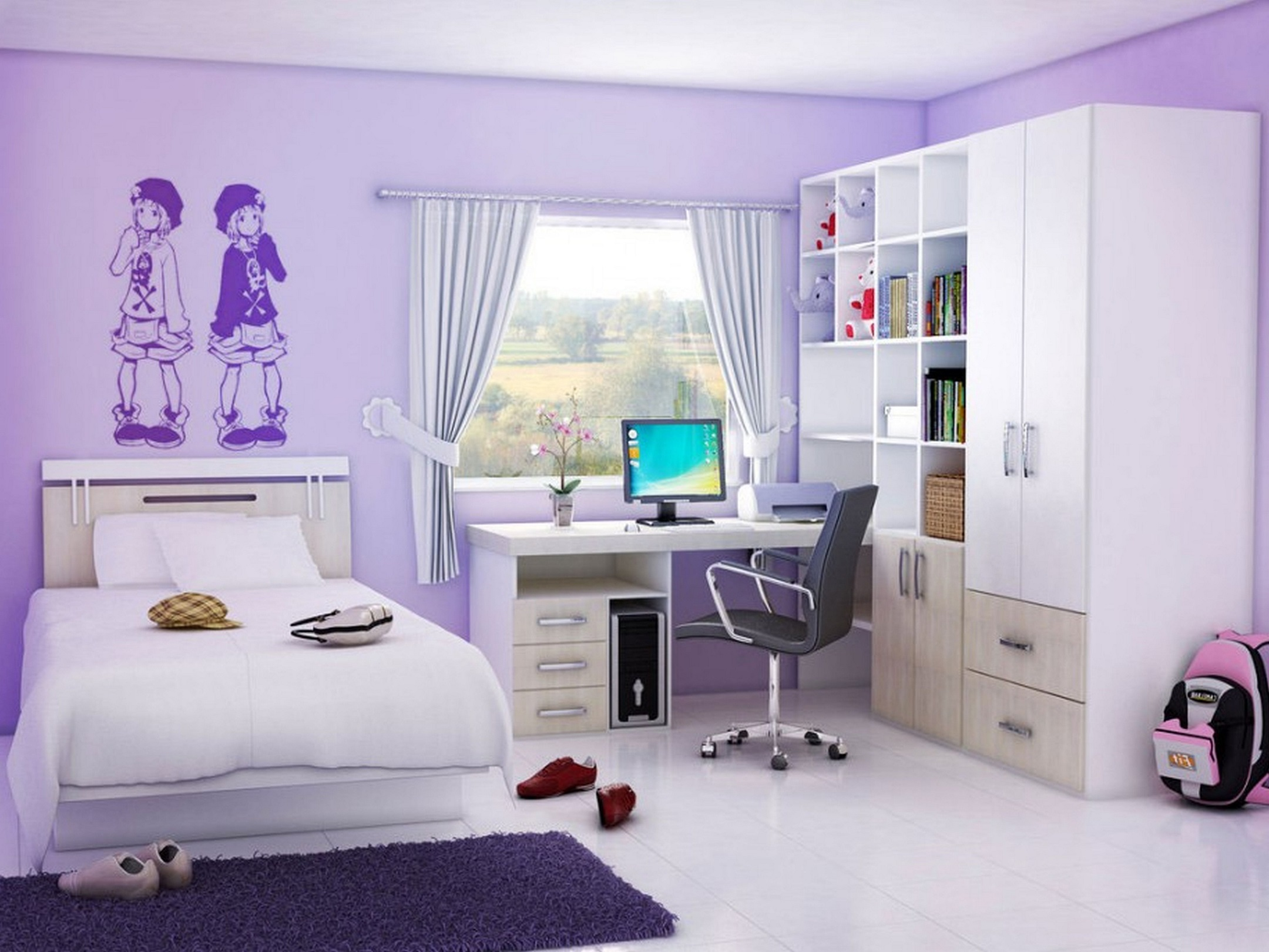 teenage girl bedroom ideas for small rooms BPTHWIN