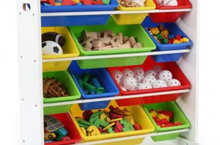 tot tutors summit collection white primary kids toy storage organizer with HECXAAN