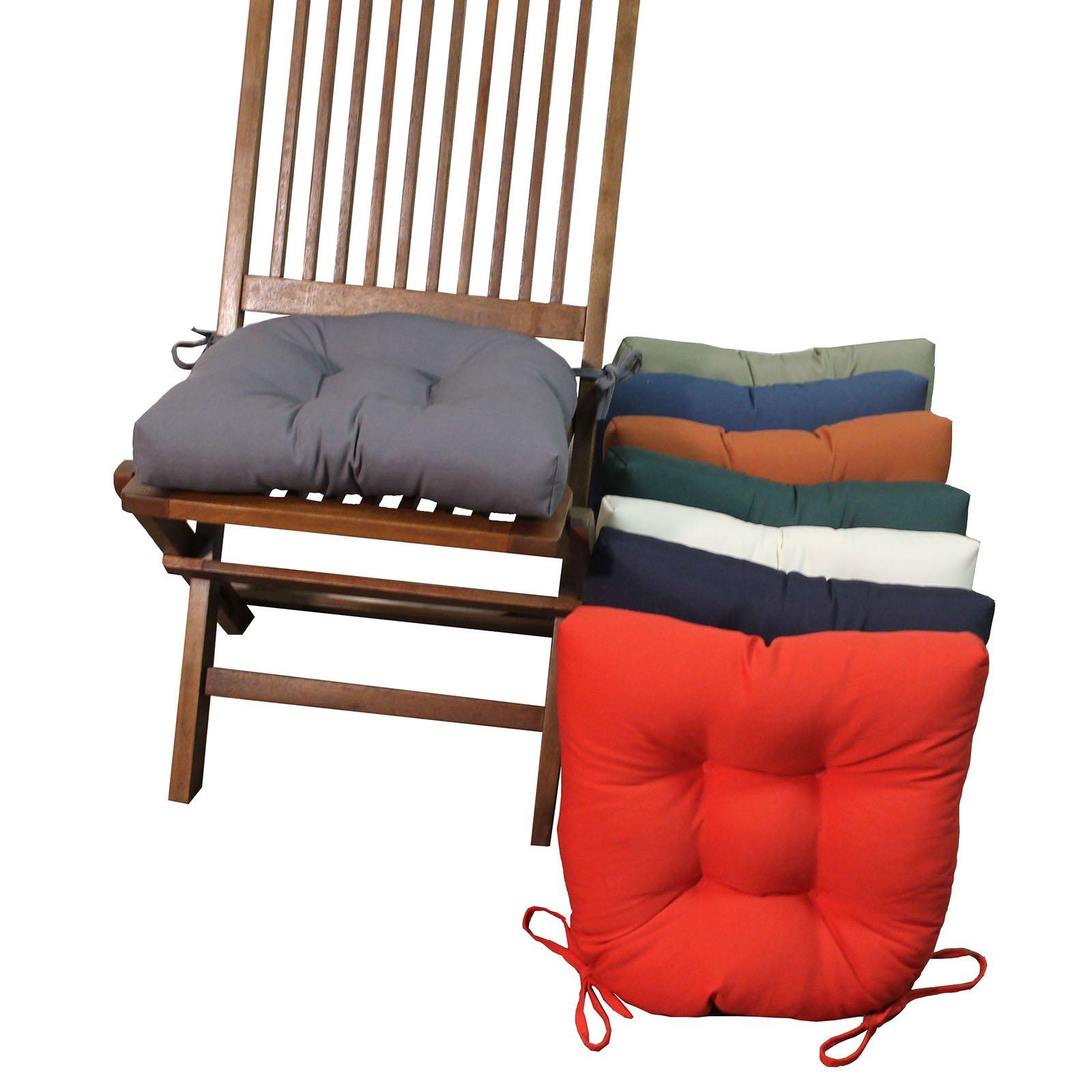 twill dining chair cushions - set of 4 - walmart.com VTSIEBY