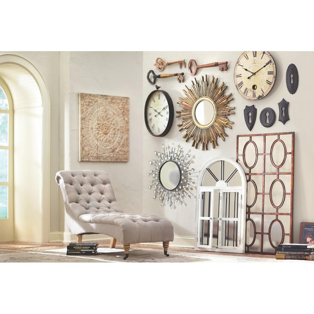 unbranded amaryllis metal wall decor in distressed cream LUWAVGZ