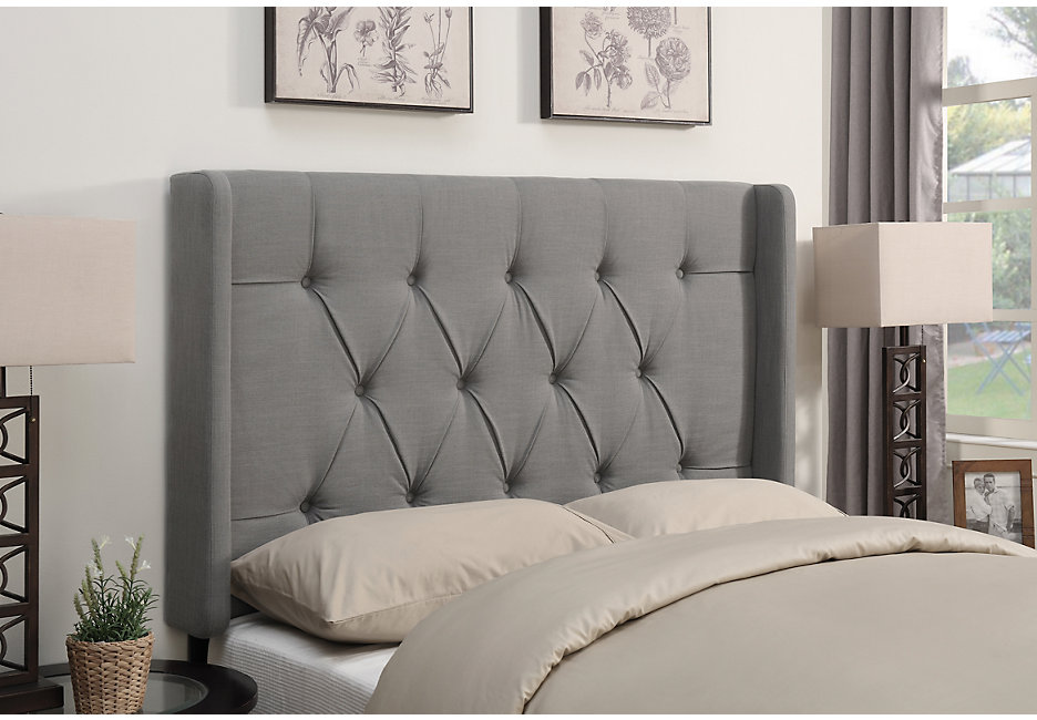 upholstered headboards livia dove gray full/queen upholstered headboard XFSXUBL