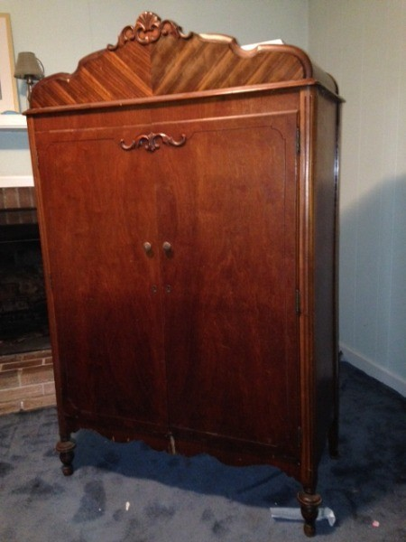 value of vintage wardrobe - beautiful wardrobe with decorative vertical VTGHKHO