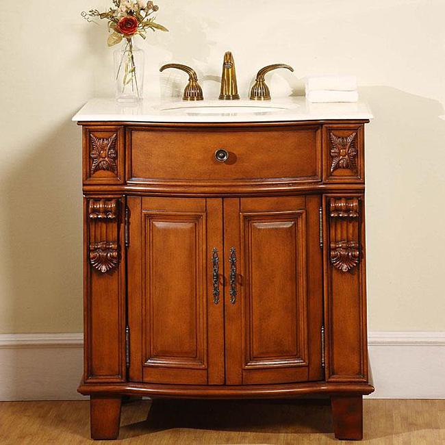 vanity cabinets silkroad wood 33 inch single sink bathroom vanity ... UTLCRUO