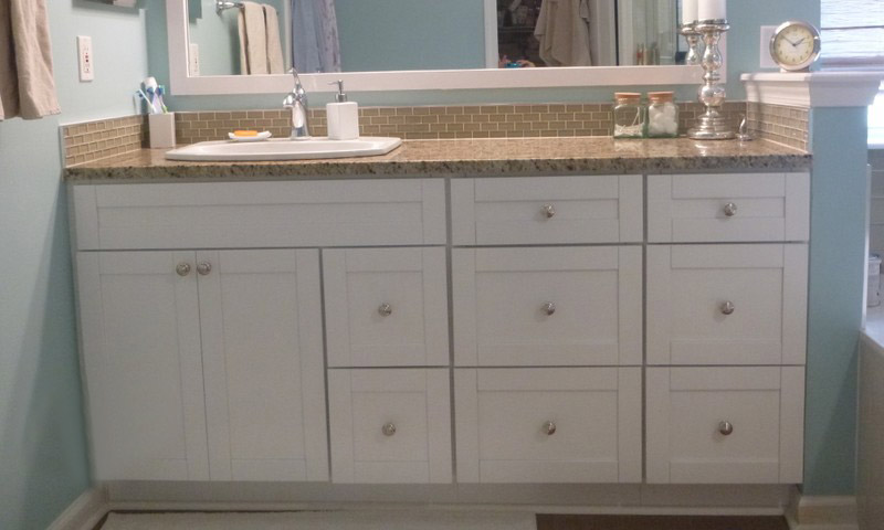 vanity cabinets white shaker vanity with drawer banks FUFTTDA