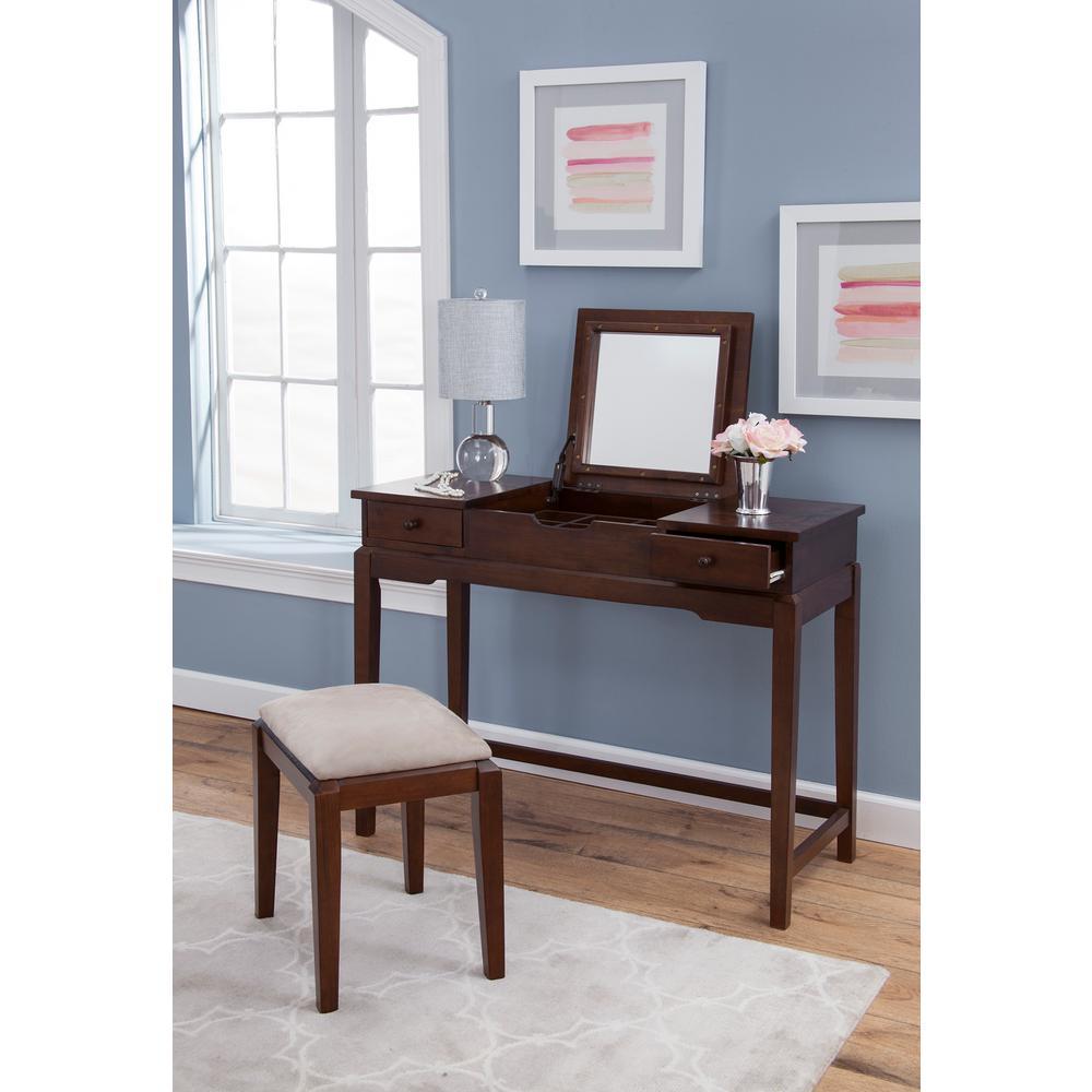 vanity desk international concepts espresso lift top vanity table LVUVQMF