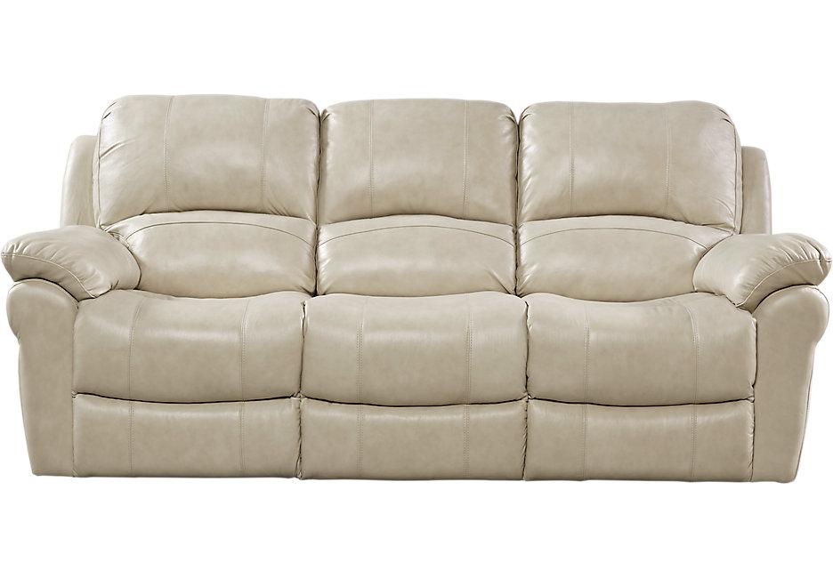 vercelli stone leather reclining sofa - reclining sofas (beige) MKPLSCH