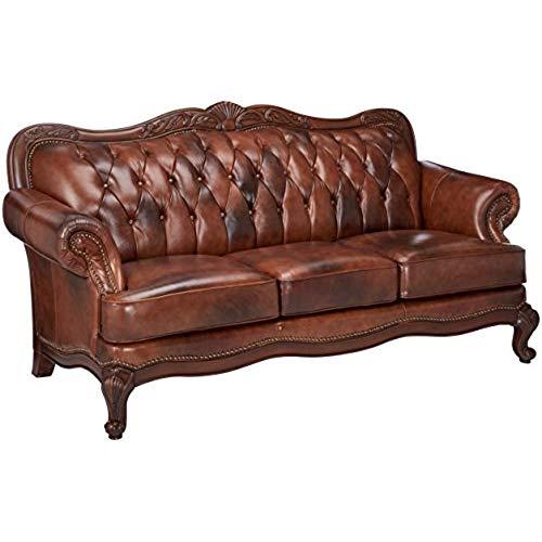 victorian furniture coaster victoria traditional tri-tone classic rolled arm sofa IRARIXZ