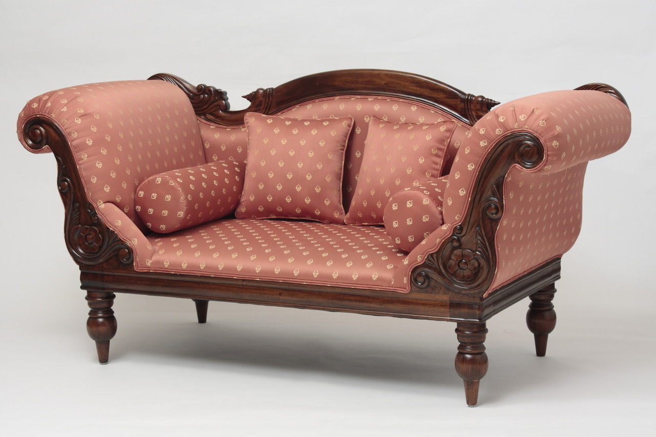 victorian furniture victorian campaign loveseat PEHUEYW