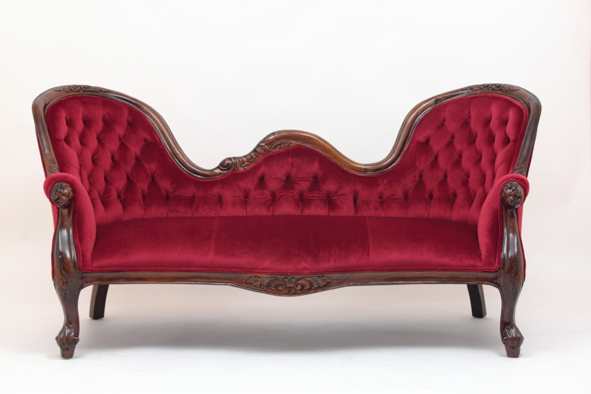 victorian furniture victorian reproduction settee in red velvet by laurel crown BSHBYJR