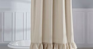 vintage ruffle shower curtain natural 72 x 72 BFRWCVE