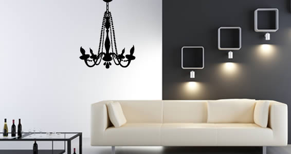 vinyl wall decals chandelier vinyl wall art DMPQKTX