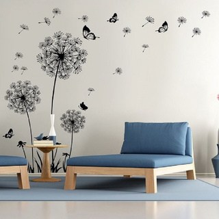 vinyl wall decals dandelion wall decal - wall stickers dandelion art decor- vinyl large QPWYNVS