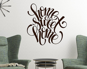 vinyl wall decals more colors. home sweet home wall decal ... KEUHLIR