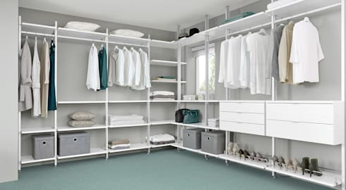 walk in wardrobe clos-it - dressing room shelving system: classic dressing room by regalraum DVYCDSC