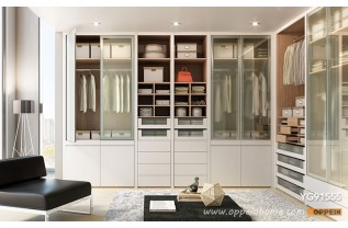 walk in wardrobe modern beige lacquer walk-in wardrobe yg91555 LSMUJJS