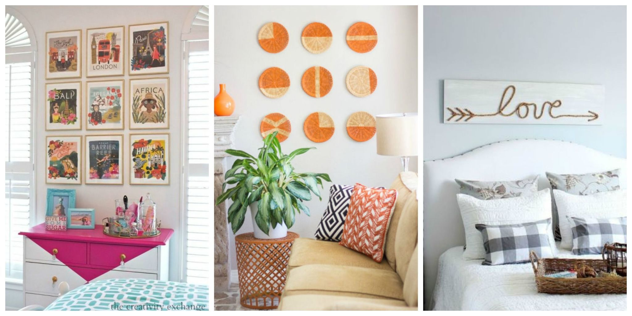 wall art ideas give any room a fresh look with these simple projects for EGCFMWT