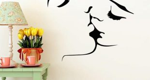 wall art stickers face kiss couple wedding wall art sticker decal home decoration decor AGXJFDK