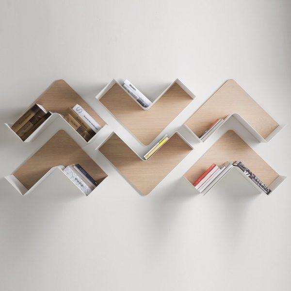 wall bookshelf 31 unique wall shelves that make storage look beautiful TQJXFIK