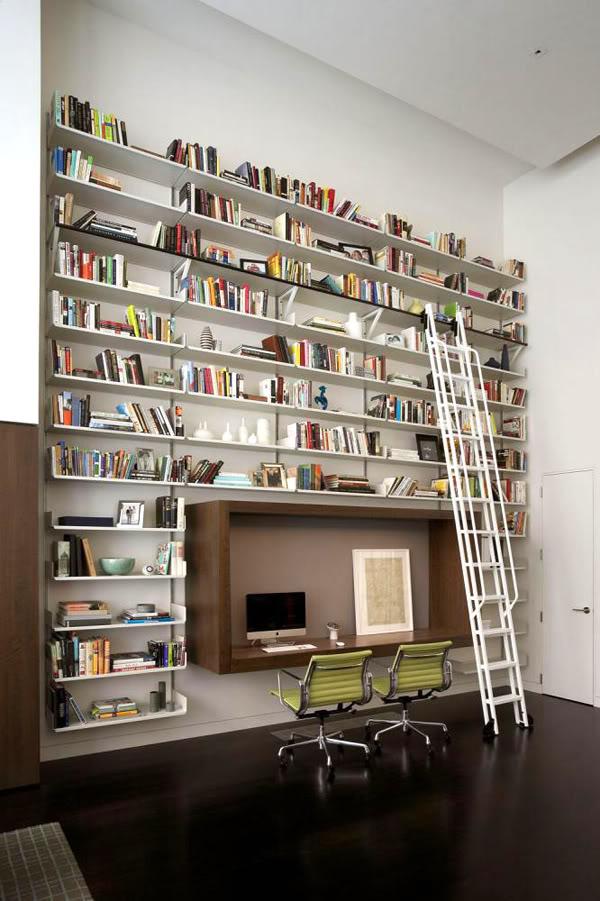 wall bookshelf interior design ideas HAOCBLH