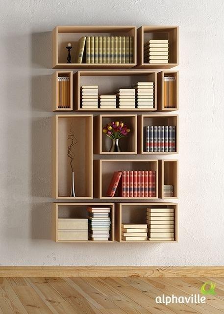wall bookshelf para guardar os livros com estilo, que tal uma estante de PPOJAJY
