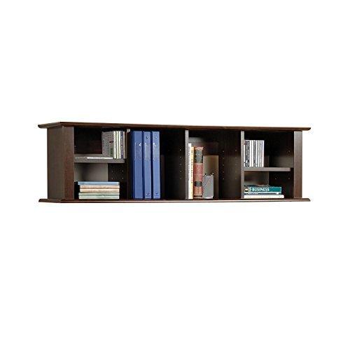 wall bookshelf prepac espresso wall mounted desk hutch BMOXGJP