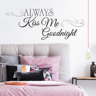 wall decals quotes always kiss me goodnight quote wall decals RLWCFHZ