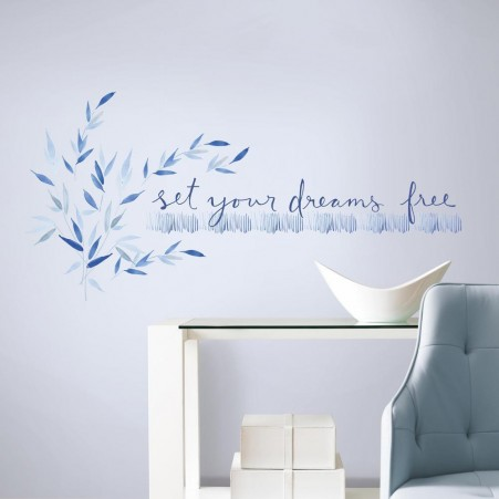 wall decals quotes kathy davis set your dreams free quote wall decals THWDXEZ
