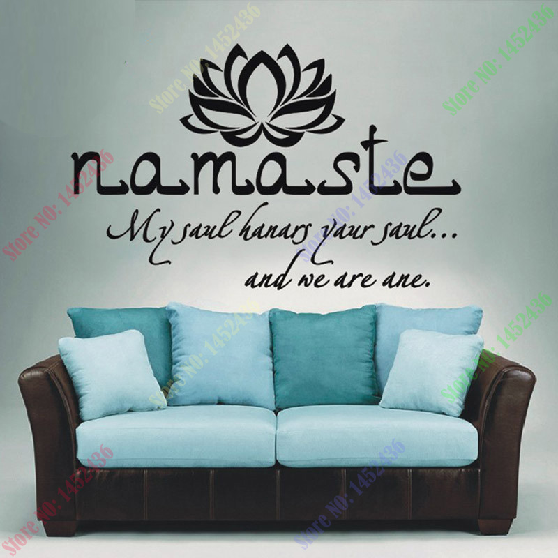 wall decals quotes vinyl sticker decal buddha quote namaste yoga mandala NDKOKZG