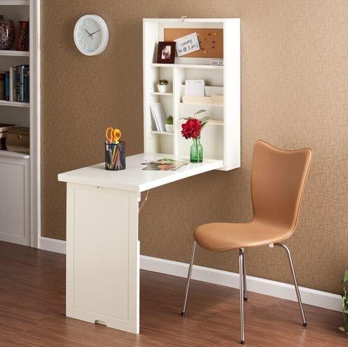 wall mounted table latitude run turrella wall-mounted floating desk u0026 reviews | wayfair AJBNXBW