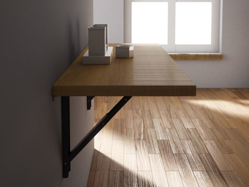 wall mounted table wall mounted drop-leaf wooden table vulcano by cancio AFPUUXH