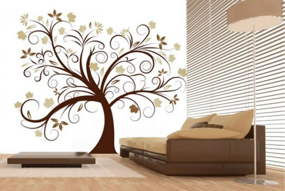 walls decoration ideas amazing tree modern wall decor ideas brown sofa olpos design PWNVWUH