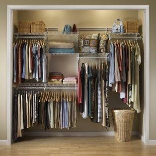 wardrobe systems adjustable clothes storage system 152cm - 244cm wide EYKOJAI