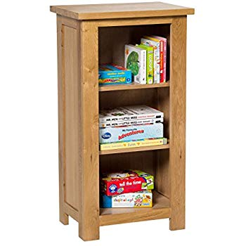 waverly oak small bookcase in light oak finish | 3 shelf EJCMFTN